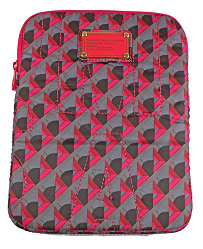 (Marc Jacobs Standard Nylon Tablet Case Charcoal Grey Multi )