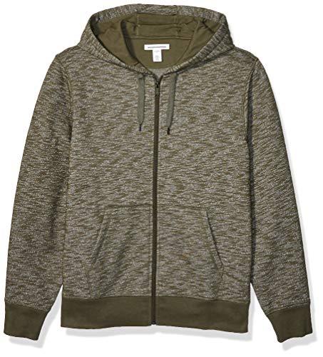 Amazon Essentials Mens Full-Zip Hooded Fleece Sweatshirt