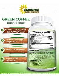 100 % puro extracto de granos de café verde – 180 cápsulas – Máxima resistencia natural GCA...