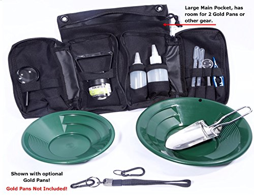 Used Gold Prospecting Equipment - VAS 21 PC Blue Prospectors Gold Panning Pan Essentials Set Kit | Molle Bag | 2 Gold Pans | Adults | Kids | Beginners Too! | Equipment for Metal Detecting & Gold Panning (BLUE GOLD PANS)