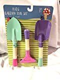 Lucky Star Childrens Gardening Tool Set, 3 Pc, Metal & Wood Construction