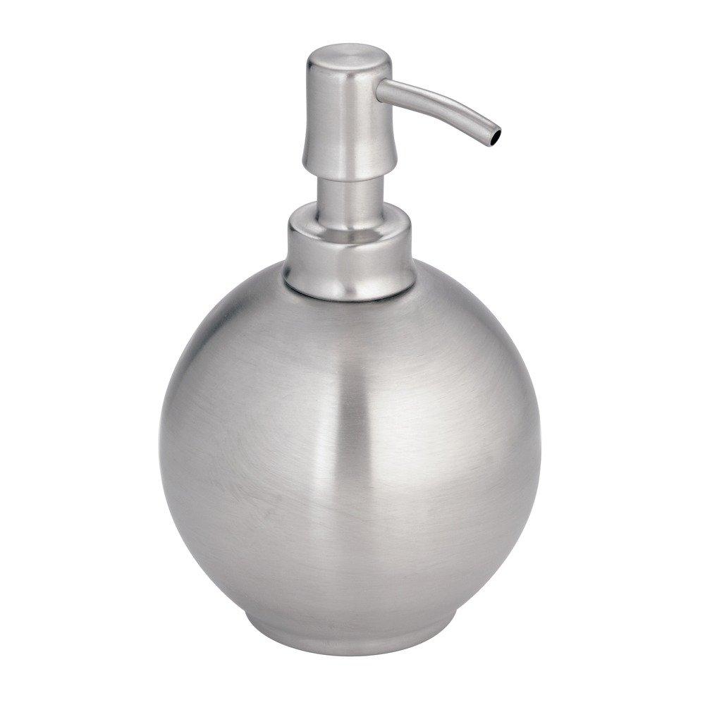 InterDesign Nogu Bicchiere, Metallo, Argento, 8.25x8.25x10.25 cm 24150