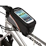 Water&Wood Roswheel Cycling Bike Bicycle Frame Pannier Front Top Tube Bag for 5.5 inches Mobile Cell Phone Red