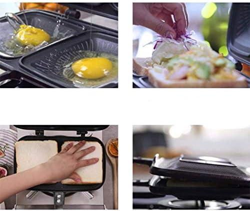 GZQDX POÊLON, Double antiadhésives Pan, Double Face Portable antidérapante et Durable en Alliage d'aluminium Grill Pan, for Les légumes confites, Steak, Poisson