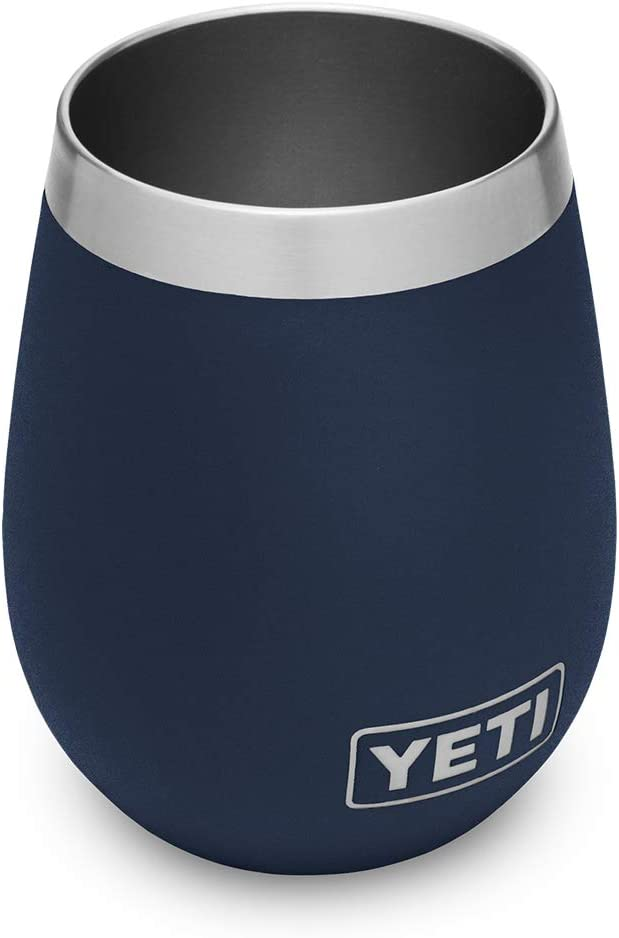YETI Rambler 10 oz Wine Tumbler, Vacuum Insulated, Stainless Steel, Navy