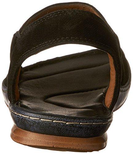 Clarks Sarla Cadence Casual Sandals Black Nubuck
