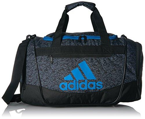 adidas Defender III Small Duffel, Onix Pixel/Black/Bright Blue, One Size