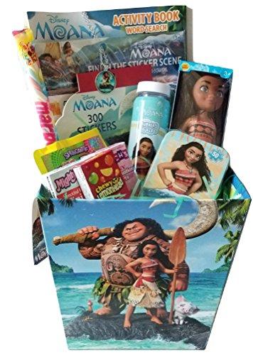 Moana Theme Paperback Gift Basket Bundle Set with Moana Vint