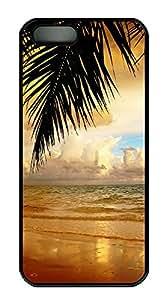 iPhone 5 5S Case Landscapes sea 5 PC Custom iPhone 5 5S Case Cover Black