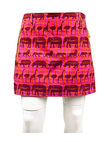 レディースボトムス 春夏モデルダンスウィズドラゴン / DANCE WITH DRAGON アニマルギンガムスカートパンツ(レディース) 1/S 039/ORANGE B015GVK6FQ