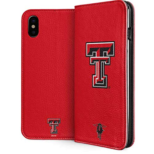 (Texas Tech University iPhone Xs Case - Collegiate Licensing Co | Skinit Folio Case - Faux-Leather Wallet iPhone Xs Cover)