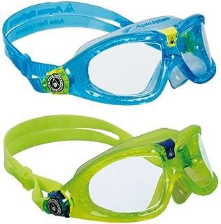 18ab6935f551 Amazon.com   Aqua Sphere Moby Kids Swim Goggles w Blue Tint- Clear ...