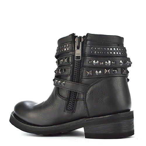 Ash Footwear Tatum Black Leather Studded Ankle Boot Black 5u9wJRLFg