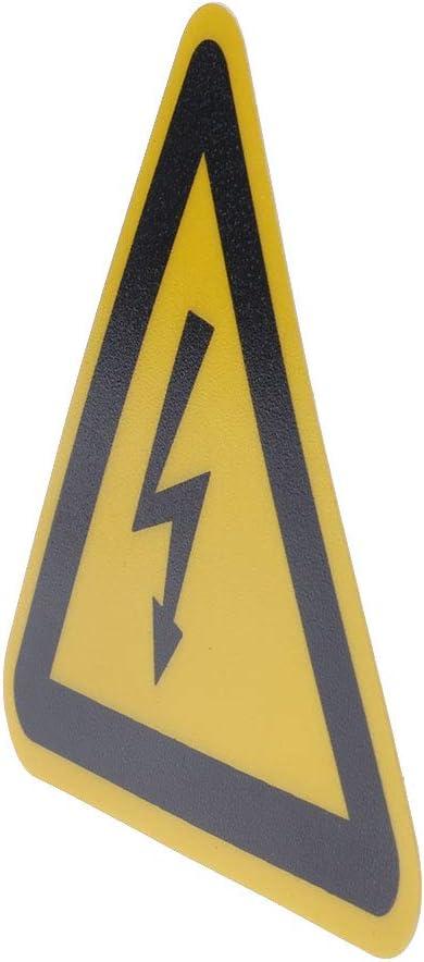 JIACUO Avertissement Autocollant /Étiquettes Adh/ésives Risque de Choc /Électrique Danger Remarque S/écurit/é 25mm 50mm 100 cm PVC /Étanche