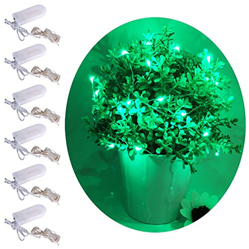Pink and green wedding table decorations amazon momo pack of 6 sets led starry light battery operated 6ft2m 20 micro string lights on silver wire led fairy light for wedding centerpieces table junglespirit Images
