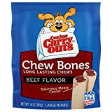 Canine Carry Outs Chew Bones Beef Flavor Long Lasting Dog Snacks – Large, 8 Count For Sale