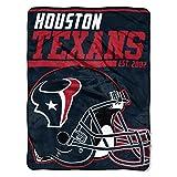 NFL Houston Texans 40 Yard Dash Micro Raschel Throw, 46″ x 60″