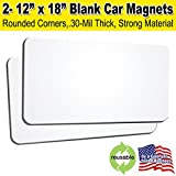 2 Pack 12'x18' Blank Car Magnets