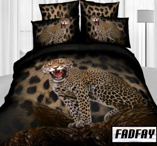 Amazon com  FADFAY Home Textile 3D Bedding Sets Queen Cheetah Print Bedding  Set Mens Bedding Sets Tiger Print Bedding  Home   Kitchen. Amazon com  FADFAY Home Textile 3D Bedding Sets Queen Cheetah