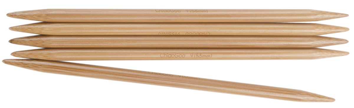 ChiaoGoo Double Point 6-inch (13cm) Bamboo Dark Patina Knitting Needle; Size US 7 (4.5mm) 1036-7 by ChiaoGoo B00QXK2B12