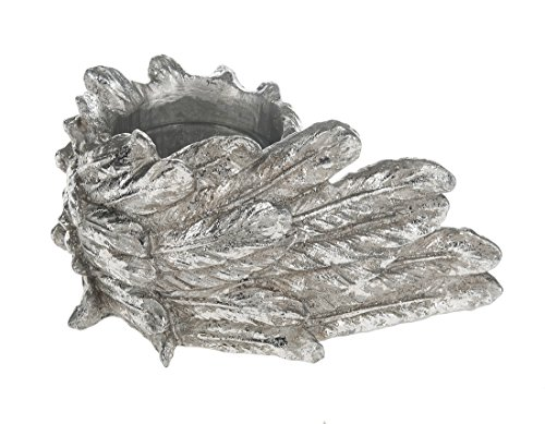 Angel Candle Wing (Ganz Silver Angel Wings Votive or Tea Light Decorative Candle Holder)