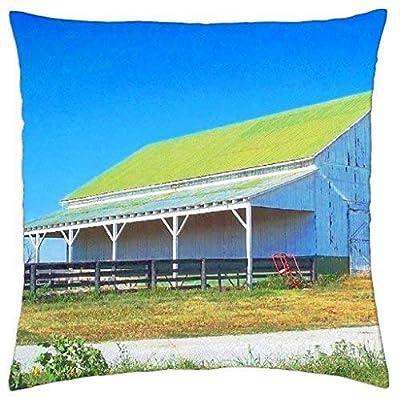 Mastexoru Barn in Kentucky - Throw Pillow Cover Case 18 X18 Inch