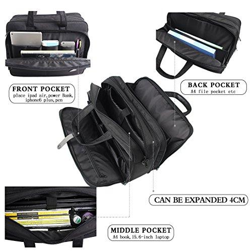 17-18-18.5 inch Laptop Bag,Water Resisatant Business Laptop Briefcase,Expandable High Capacity Shoulder Bag,Nylon Multi-Functional Shoulder Messenger Bag for Men Fits 17 inch Loptop ,Computer,Tablet by NULL (Image #4)