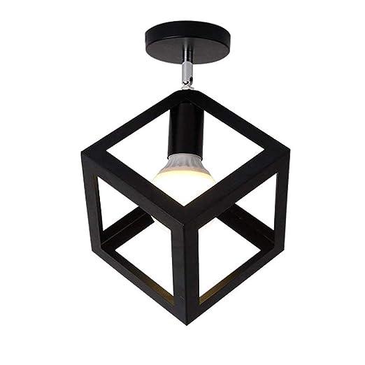 Amazon.com: Lámpara de techo retro negro lámpara de techo ...