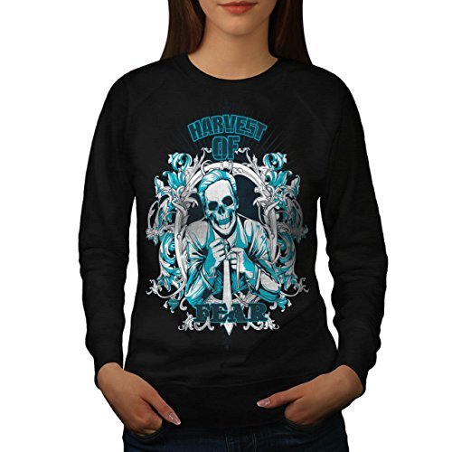 Harvest Of Fear Boss Skull Suit Women NEW M Sweatshirt | Wellcoda (Mob Boss Tie)