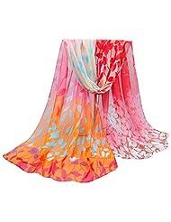 Changeshopping Women Printed Silk Soft Silk Chiffon Shawl Wrap Wraps Scarf Scarves