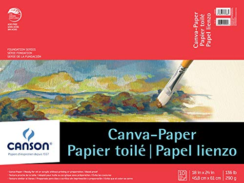 Canson Foundation Series Canva-Paper Pad, 18
