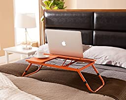 Kings Brand Foldable Adjustable Laptop Stand For Table, Sofa & Bed (Orange)