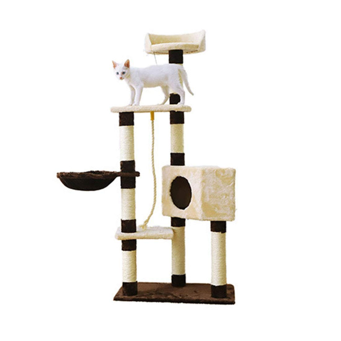 Cat climbing frame 139X60X37cm Cat climbing frame 139X60X37cm Deluxe Multi Cat Tower Cat Toys Cat Climbing Frame Cat Tree Cat Scratch Board Funny Cat Table Cat Supplies (color   Cat Climbing Frame, Size   139X60X37cm)