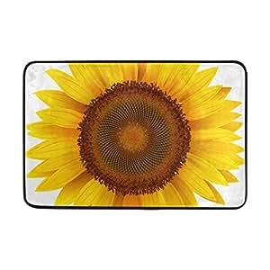 "Aideess Outdoor Entrance Non-Slip Decorative Door Mat by, Sunflower Rug Carpet, Custom Washable Doormat 23.6""(L) x 15.7""(W)"