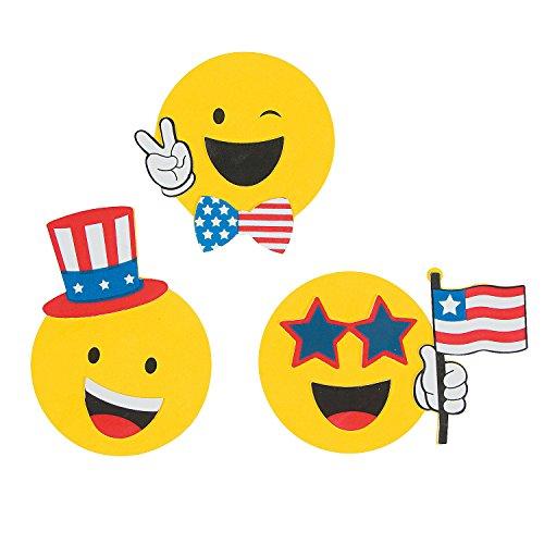 - Fun Express Emoji Patriotic Magnetic Craft Kit - 12 Assorted Style Kits
