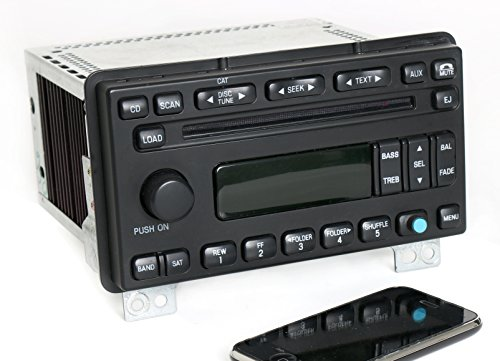 1 Factory Radio AM FM 6 Disc CD w Bluetooth Music Compatible With Lincoln Aviator 2003-2004 Radio 5C5T-18C815-AC
