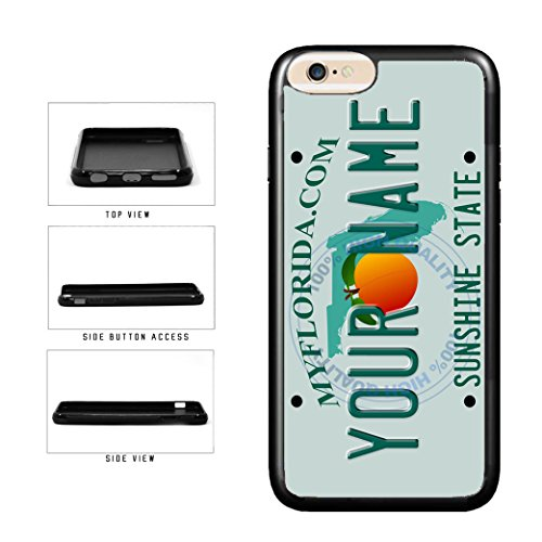 BleuReign(TM) Personalized Custom Name Florida State License Plate TPU RUBBER SILICONE Phone Case Back Cover For Apple iPhone 6 6s (4.7 Inches Screen)