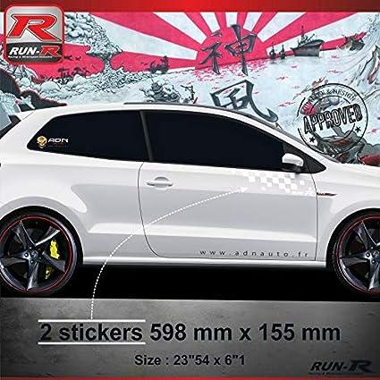 ADN-Auto 59584 Pegatinas 000B Adhesivo Flag para Volkswagen Polo ...