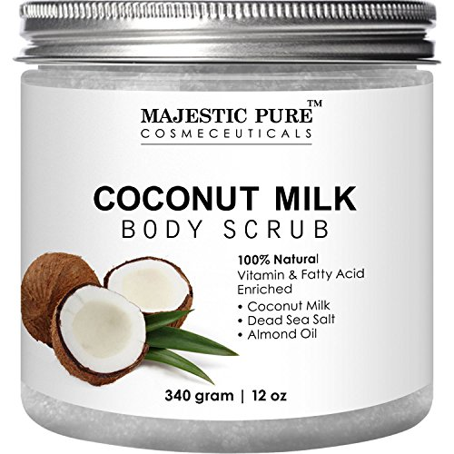 Coconut-Milk-Body-Scrub-from-Majestic-Pure-Anti-Cellulite-Scrub-Exfoliator-12-Oz-Natural-Skin-Care-Formula-Helps-with-Stretch-Marks-Eczema-Acne-and-Varicose-Veins