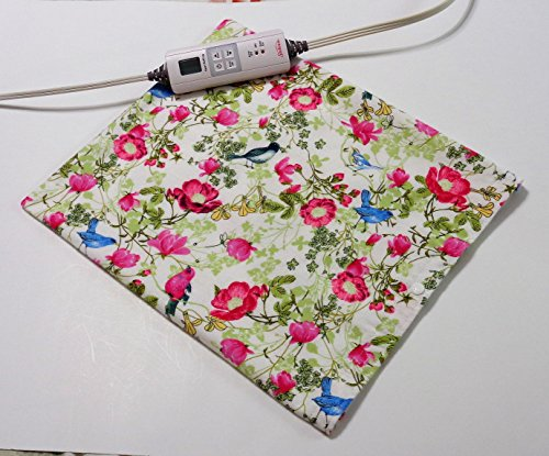 """Replacement Cover for 12"""" x 15"""" Heating Pad ~ Heating Pad Cover ~ Cover Only ~ Birds in Flowers by Practical Things I Love"""