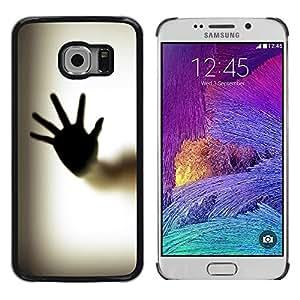 KOKO CASE / Samsung Galaxy S6 EDGE SM-G925 / hand palm window fingerprint art body / Slim Black Plastic Case Cover Shell Armor