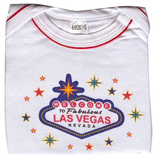 Welcome To Las Vegas Adorable Onesie Baby Body Suit Package it Comes in White and Pink (18 Months, White)