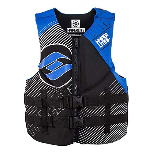 - Hyperlite 2019 Mens Indy Neo Vest for Wakeboard Wakesurf Ski Black/Blue L