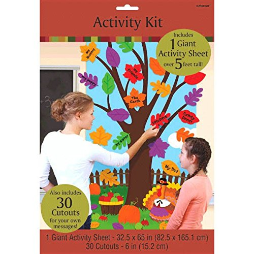 Amscan Festive Fall Thanksgiving Party Thanksgiving Door Kit, Multicolor,