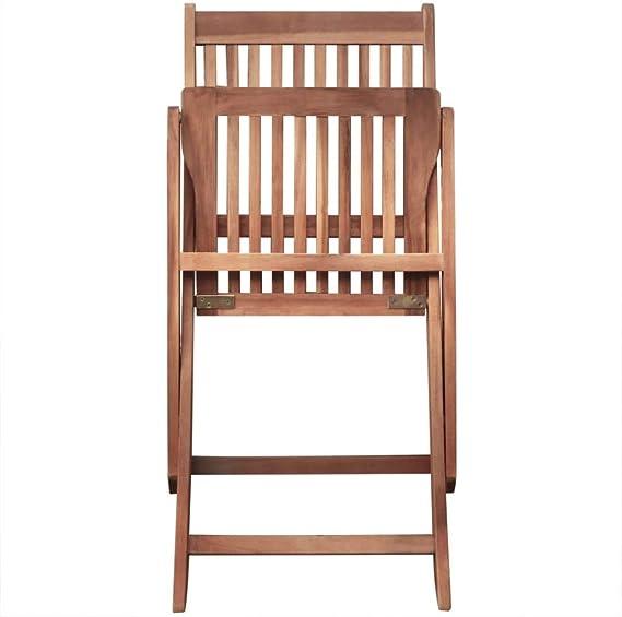 8 sedie Pieghevoli con Tavolo Pieghevole con Tavolo Ideale per la Vita allaperto e Pranzo Fesjoy Set di sedie da Giardino in Legno Set di sedie da Giardino