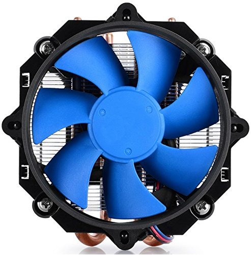 Ushining Intel Heatsink with Fan Premium Quiet CPU Cooler with with Aluminum Fins and 2 Direct Contact Heat Pipes (Core Dual Duo Pentium)