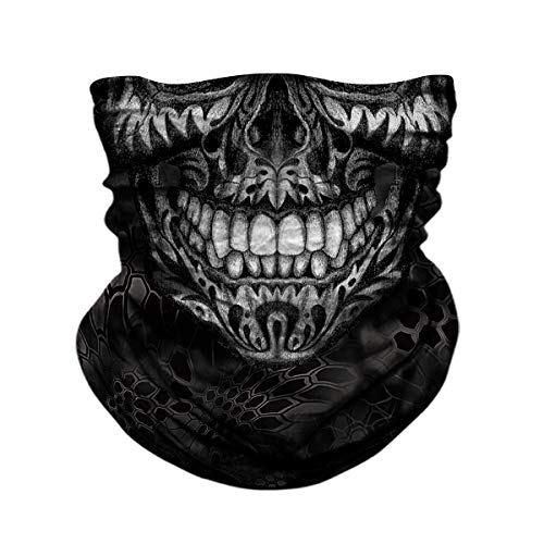 Seamless Neck Gaiter Shield Scarf Bandana Face Mask Seamless UV Protection for Motorcycle Cycling Riding Running ()