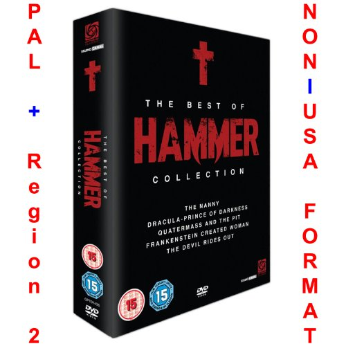 Best of Hammer Collection [Non-USA format: PAL  region 2 UK. import] (5 DVD box set includes: The Nanny, Dracula Prince of Darkness, Quatermass and the Pit, Frankenstein Created Woman and The Devil Ri