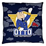 Airplane! 1980 Satirical Comedy Movie Otto The Autopilot Throw Pillow
