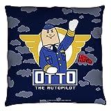 Airplane! 1980 Satirical Comedy Movie Otto The Autopilot Throw Pillow